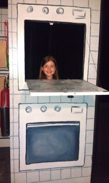 Bryn discovering the magic of the set on her exclusive backstage tour!