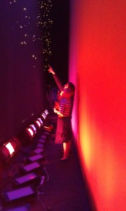 Lizzie gets an exclusive look at the lights.